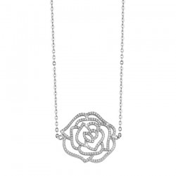 SILVER NECKLACE FLOWER