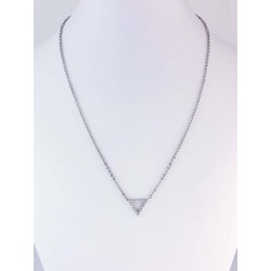 Necklace with Little Triangle Cubic Zirconia