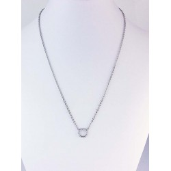 Necklace with Little Cercle Cubic Zirconia