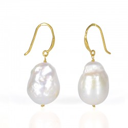 Golden SILVER HEANGING EARRING PEARL
