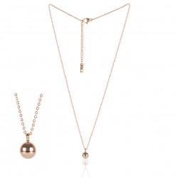 ROSY STAINLESS STEEL NECKLACE BALL