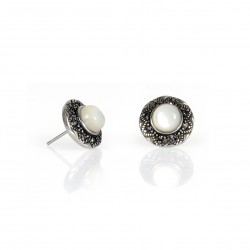 STAINLESS STEEL EARRING ROUND SHELL