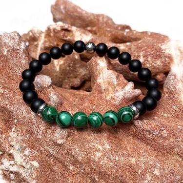 bracelet homme pierre et acier