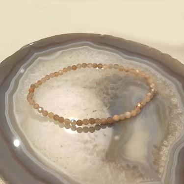 Bracelet pierre de soleil facettée