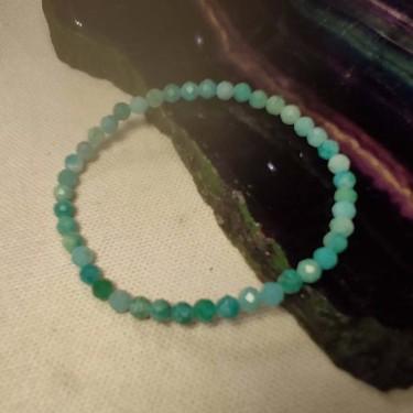 Bracelet pierre amazonite facettée