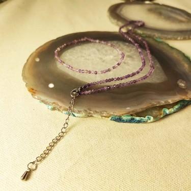 Bracelet amethyste facettée