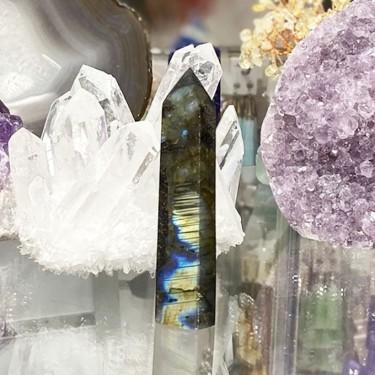 Pique objet décoratif en labradorite