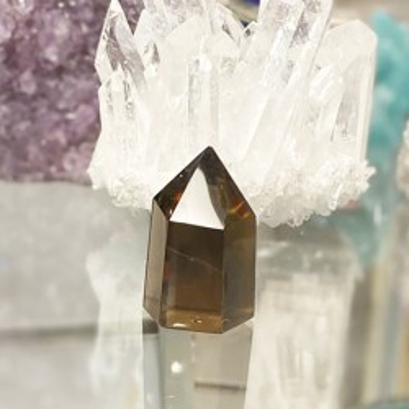 Pique objet décoratif en quartz fumée