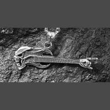 Pendentif acier inoxydable gothique guitare