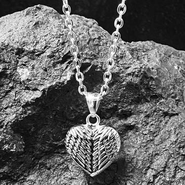 Pendentif acier inoxydable coeur