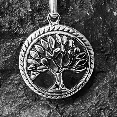 Pendentif acier inoxydable arbre de vie