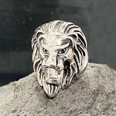 Bague chevalière acier inoxydable lion
