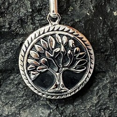 Porte-clé en acier inoxydable arbre de vie