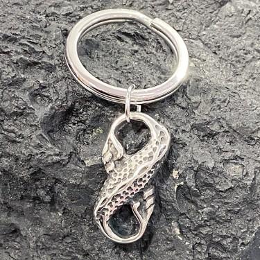 Porte-clé en acier inoxydable infinie