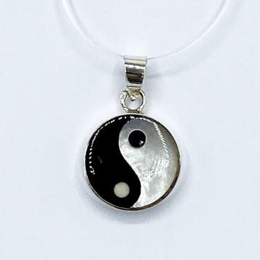 Pendentif argent massif ying yang 1.64g