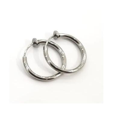 Boucles d'oreilles acier inoxydable créole clip!