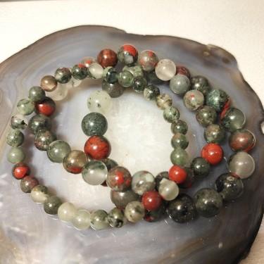 Bracelet pierre bloodstone
